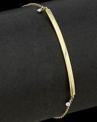 Meira T - 14k Two-tone 0.02 Ct. Tw. Diamond Bar Bracelet - Lyst