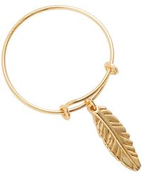 ALEX AND ANI - Alex & Ani Providence Feather Expandable Wire Trend Ring - Lyst