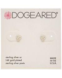 Dogeared - It's The Little Things Silver Earrings - Lyst
