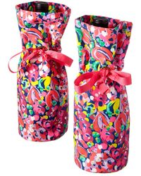 Lilly Pulitzer - Set Of 2 Wild Confetti Wine Totes - Lyst