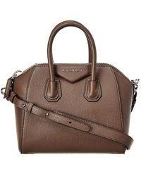 Givenchy - Antigona Mini Sugar Leather Satchel - Lyst