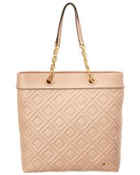 Tory Burch - Fleming Leather Tote - Lyst