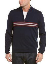 Brooks Brothers - Wool 1/2 Zip Sweater - Lyst