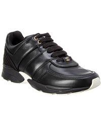 Chanel - Leather Sneaker - Lyst