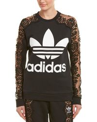 Stella McCartney - Adidas 3-stripe Lace Sweatshirt - Lyst