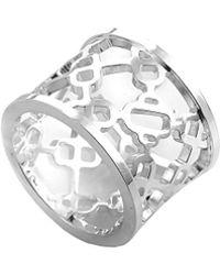 Hermès - Intricate Silver Ring - Lyst