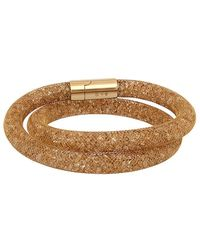 Swarovski - Stardust Deluxe 24k Plated Bangle - Lyst