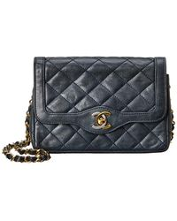 8ac5260ff6fd Chanel Black Quilted Lambskin Leather Border Medium Flap Bag in ...