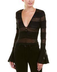 Ella Moss - Womens Lace Bodysuit, M, Black - Lyst