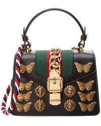 Gucci - Sylvie Animals Studs Leather Mini Bag - Lyst