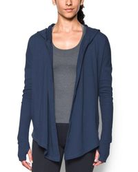 Under Armour - Women's Modern Terry Open Front Cardigan - Lyst