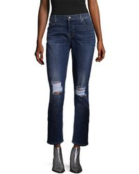 7 For All Mankind - 7 For All Mankind Josefina Destroy Squiggle Jeans - Lyst