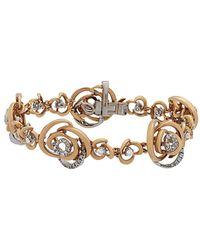 Damiani - 18k Two-tone 1.13 Ct. Tw. Diamond Bracelet - Lyst