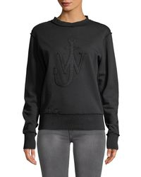 JW Anderson - J.w. Anderson Embroidered Logo Sweatshirt - Lyst