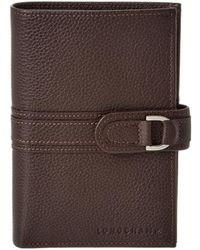 Longchamp - Le Foulonne Leather Compact Wallet - Lyst