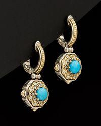 Konstantino - Hermione 18k & Silver 1.80 Ct. Tw. Diamond & Turquoise Earrings - Lyst
