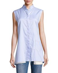Helmut Lang - Striped Apron Back Top - Lyst