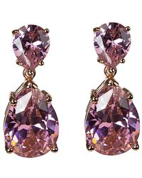 CZ by Kenneth Jay Lane - Rose Gold Plated Earrings - Lyst