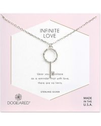 Dogeared - Infinite Love Silver Crystal Necklace - Lyst