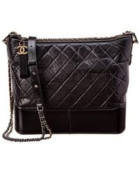 Chanel - Black Quilted Lambskin Leather Gabrielle - Lyst e8d804e2f2d56