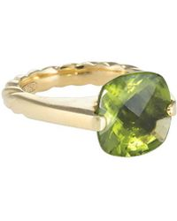 David Yurman - David Yurman Cable 18k 7.00 Ct. Tw. Peridot Ring - Lyst