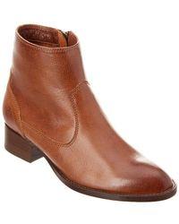 Frye - Brooke Short Leather Bootie - Lyst