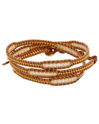 Chan Luu - Crystal Leather Wrap Bracelet - Lyst