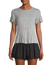 Rebecca Taylor - Ruched Jersey T-shirt - Lyst