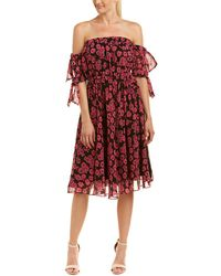 MILLY - Zoey Midi Dress - Lyst