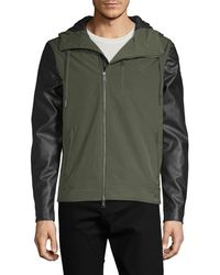 Armani Exchange - Hooded Zip-up Jacket - Lyst