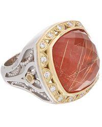 Tacori - Scarlett 18k & Silver 19.92 Ct. Tw. Diamond & Gemstone Doublet Ring - Lyst