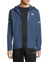 New Balance - Reflective Zip Jacket - Lyst