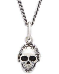 King Baby Studio - Victorian Gear Skull Necklace - Lyst
