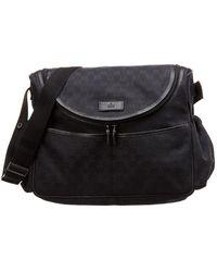 1a8cccd4cd0ad9 Gucci - Black GG Canvas & Leather Diaper Bag - Lyst