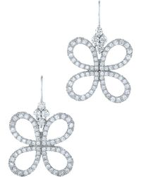 Kwiat - Lucky 18k 1.15 Ct. Tw. Diamond Drop Earrings - Lyst