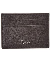 Dior Homme - Grained Leather Card Holder - Lyst