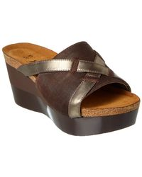 Naot - Eve Leather Wedge Sandal - Lyst