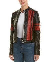 Bagatelle - Nyc Motocross Leather Biker Jacket - Lyst