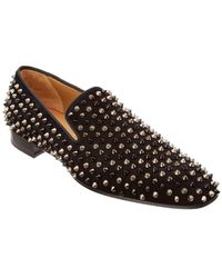 Christian Louboutin - Dandelion Spikes Suede Loafer - Lyst