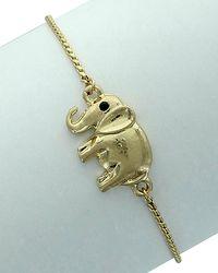 Sparkling Sage - Plated Elephant Bracelet - Lyst