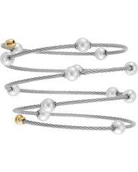 Alor - Classique 18k Pearl Cable Bracelet - Lyst
