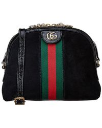 3146b7154d3d Gucci Ophidia Small Suede & Leather Belt Bag in Black - Lyst