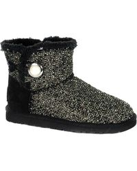 UGG - Mini Bailey Button Fancy Bling Sheepskin Boot - Lyst