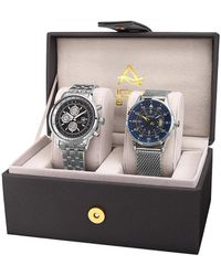 August Steiner - Akribos Xxiv Men's Set Of 2 Watches - Lyst