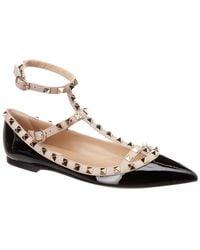 Valentino - 17ss Women's Shoes Rockstud Ballet Pump Black/poudre - Lyst