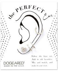 Dogeared - Playing By Ear Silver Cz Earrings - Lyst