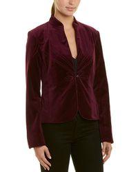 Trina Turk - Peony Velvet Jacket - Lyst