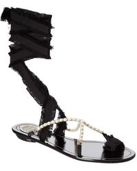 Rene Caovilla - Embellished Sandal - Lyst