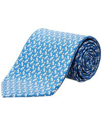 Ferragamo - Blue Greyhound Silk Tie - Lyst