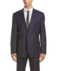 Canali - Wool Suit With Flat Front Pant - Lyst